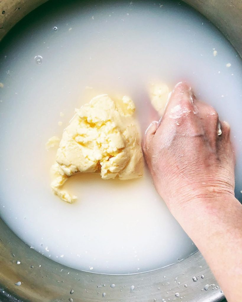 butter making water