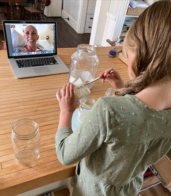 Child video chat with Parent